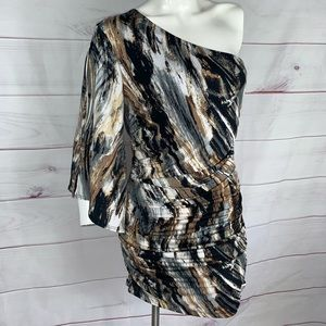 Forever 21 marble color body con dress Sz Large